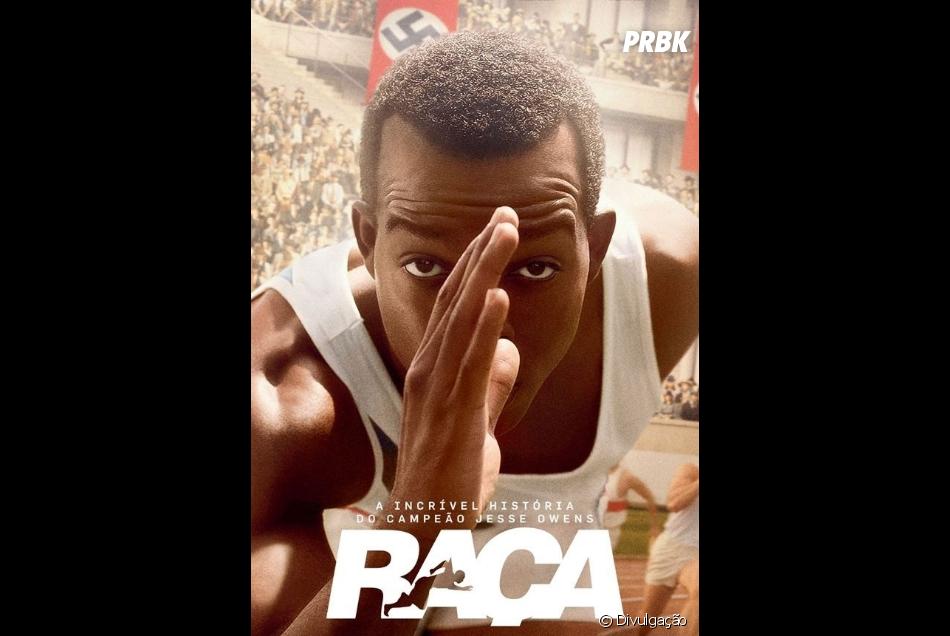 Capa Filme - Jesse Owens posicionado para largada