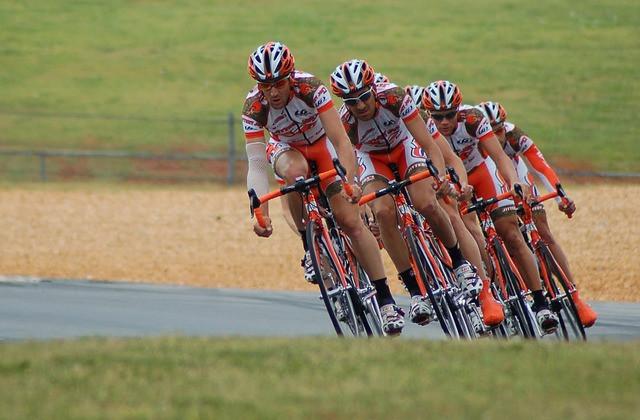 Ciclistas em uma prova
