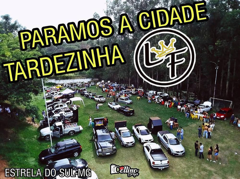 Foto de um dos eventos de carro rebaixado organizado pelo Celino