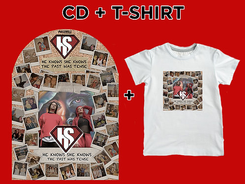 CD + TShirt Bundle (The Past Was Tense)