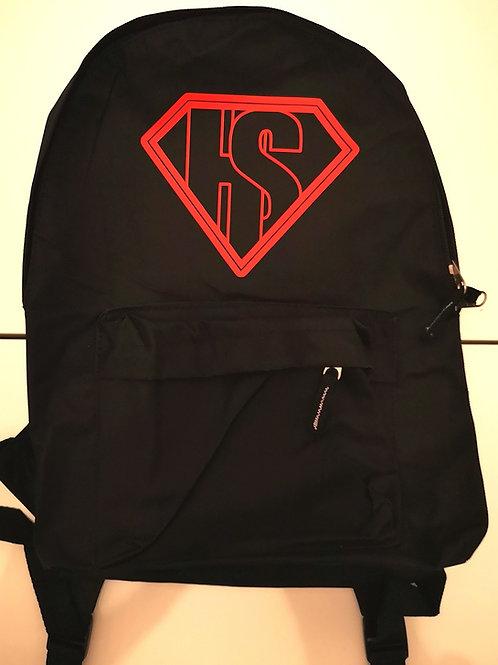 Black Backpack HKSK Logo