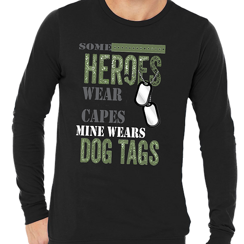 MINE WEARS DOG TAGS