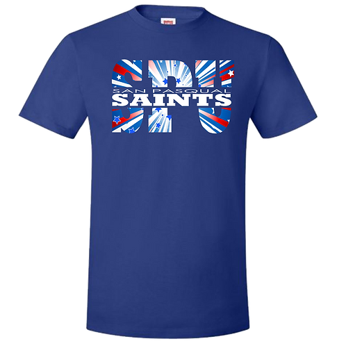 BLUE SPU PATRIOTIC T-SHIRT - YOUTH