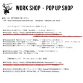 【WORK SHOP・POP UP SHOP・スケジュール】