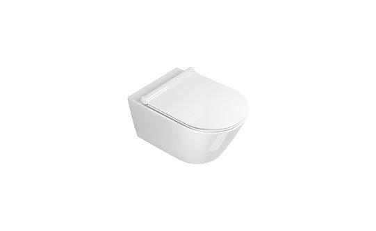 CATALANO ZERO 55 NEW FLUSH WALL-HUNG WC (RIMLESS WC)