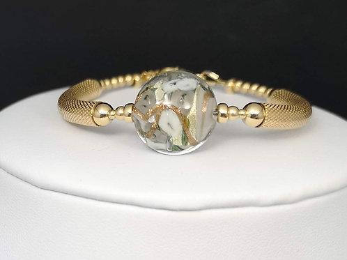Bracelet Fleur de Murano|Gris