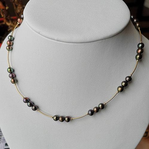 Collier perles #9
