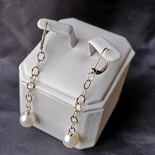 Boucles d'oreille perle #2