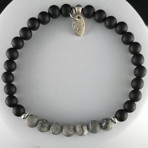 Bracelet JASPE GRIS