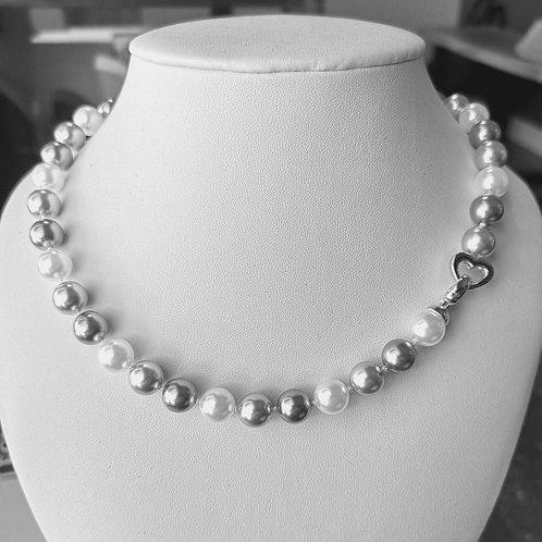 Collier de perles 3 couleurs