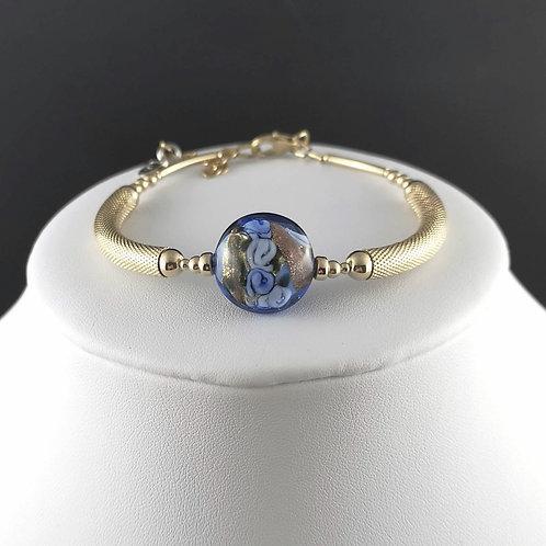Bracelet Fleur de Murano Bleu