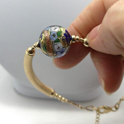 Bracelet Fleur de Murano | cobalt