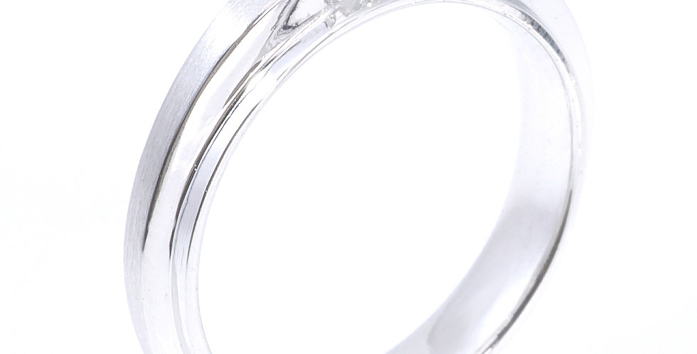 Men's Diamond Wedding Band (18k white gold)