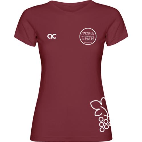 T-shirt Femme Bordeau