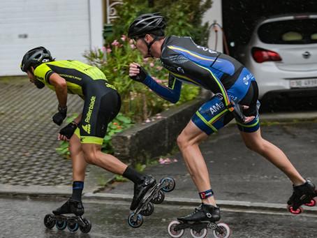 Swiss Skate Tour - Charly Grillon et Zoé Remy 2e. Doucelin Pedicone 3e - Kevin Fourneret 1er junior.
