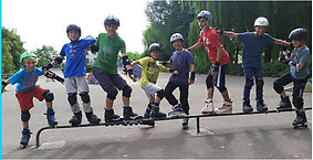 groupe roller freestyle AM Sports Dijon.