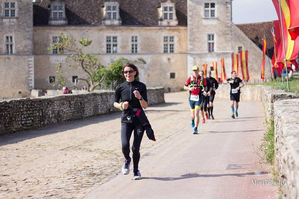 Marathon des Grands Crus, passage au Clos de Vougeot