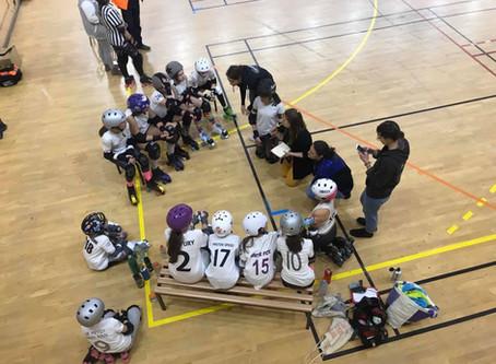 Premier match des Arrowbases, notre équipe junior