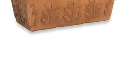 Cassetta resina con foglie anticato CR 60 cm 60*31