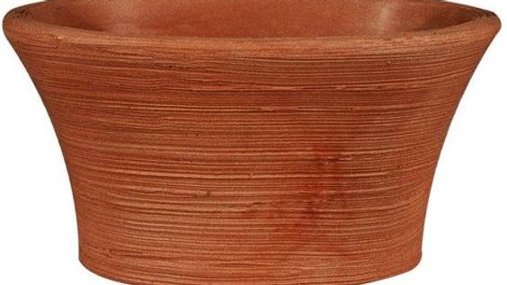 Vaso ovale resina narciso cm44x30