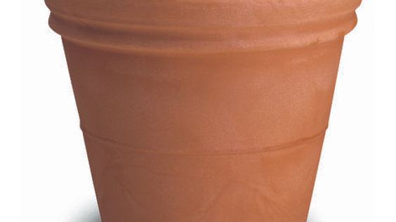 Vaso resina doppio bordo liscio anticato DBL 75 CM 75