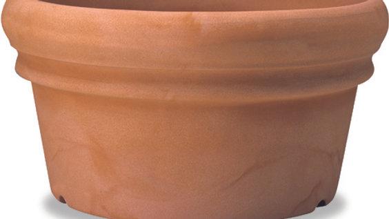 Conca doppio bordo resina vaso anticato cm 55 H 29 CDB 55