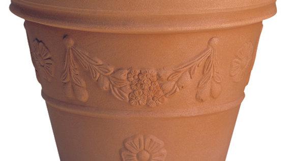 Vaso resina festonato anticato CF 30 CM 30