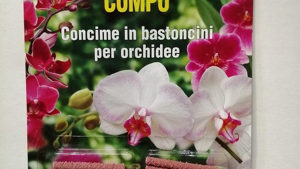 Compo concime in bastoncini per orchidee 20 pz