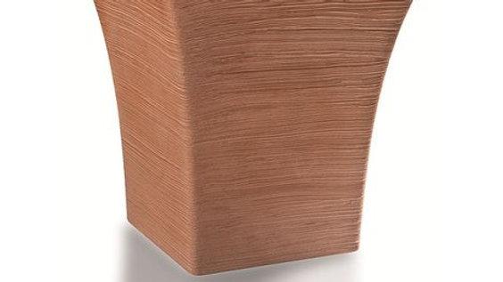 Vaso quadrato in resina gardenia CM 50