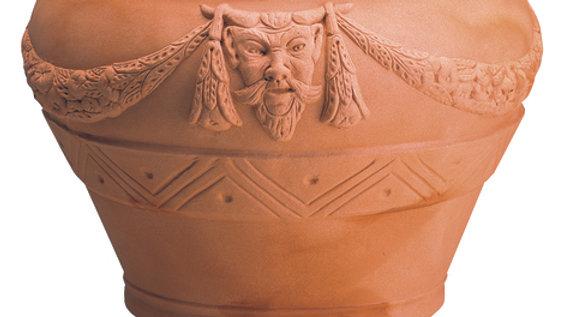 Orcio decorato in resina anticato cm 55 h 72