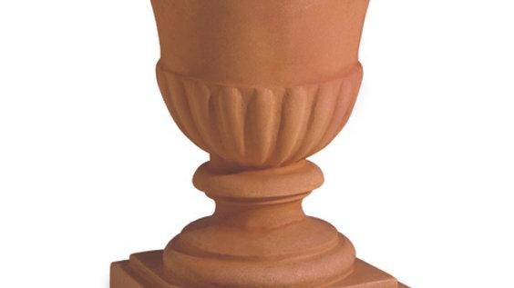 Calice liscio resina anticato cm 44 h 54 CLL 45