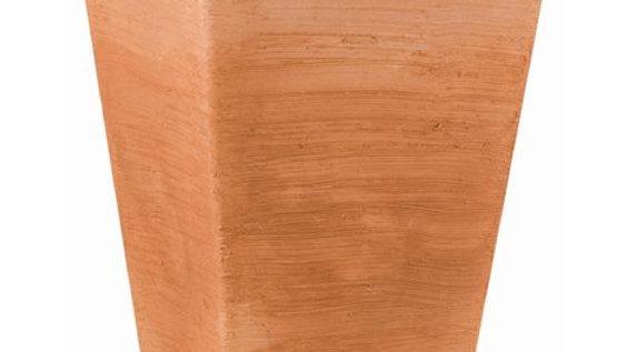 Vaso quadrato resina giglio 50 h50