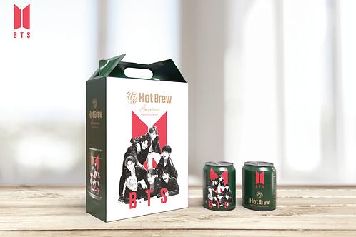 [BTS缶コーヒー] BTSホットブリュー アメリカーノ ヘーゼルナッツ コーヒー(12本入)