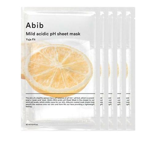 [Abib]弱酸性phシートマスク柚子フィット 5枚