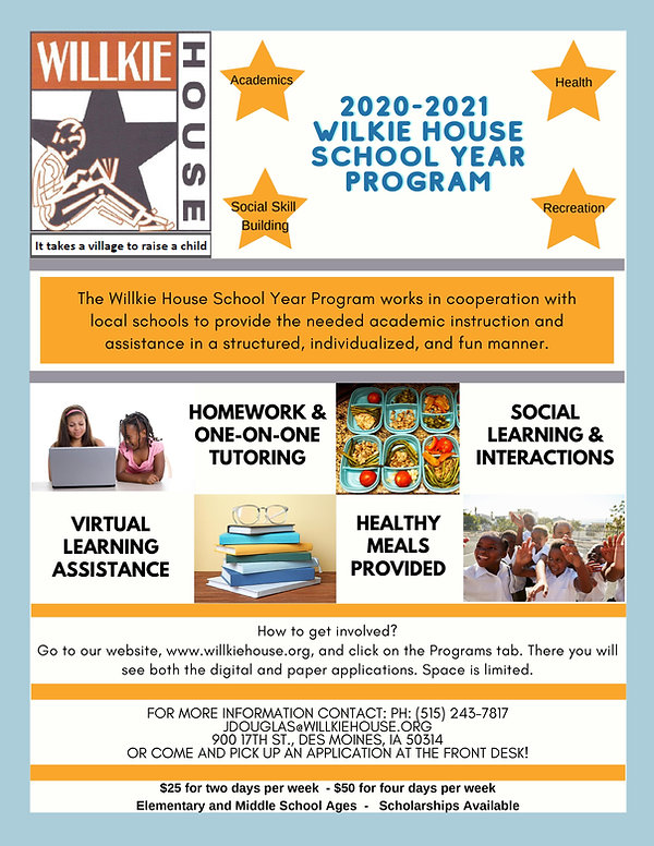 WIlkie House School Year Flyer 2020.2021