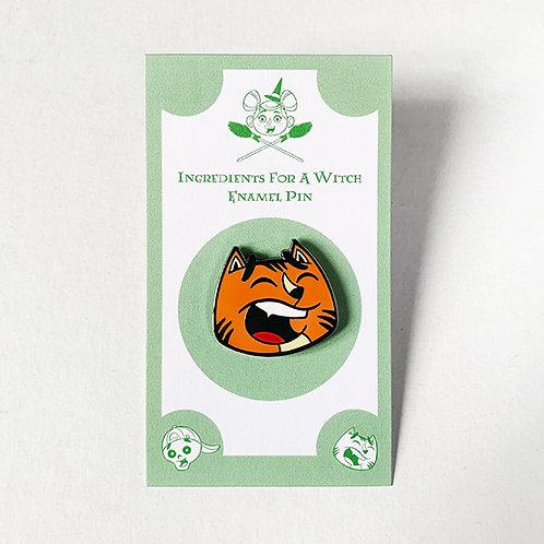 Pumpkin, the Orange Cat- Enamel Character Pin