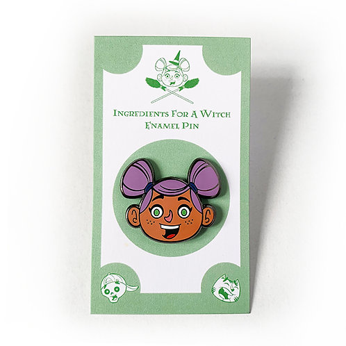 Witch Betty- Enamel Character Pin