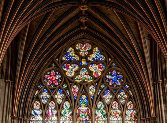 Stunning Glass windows in Exeter Cathedral