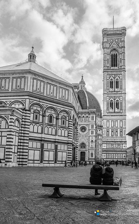 Italy - Cattedrale di Santa Maria del Fiore - B&W