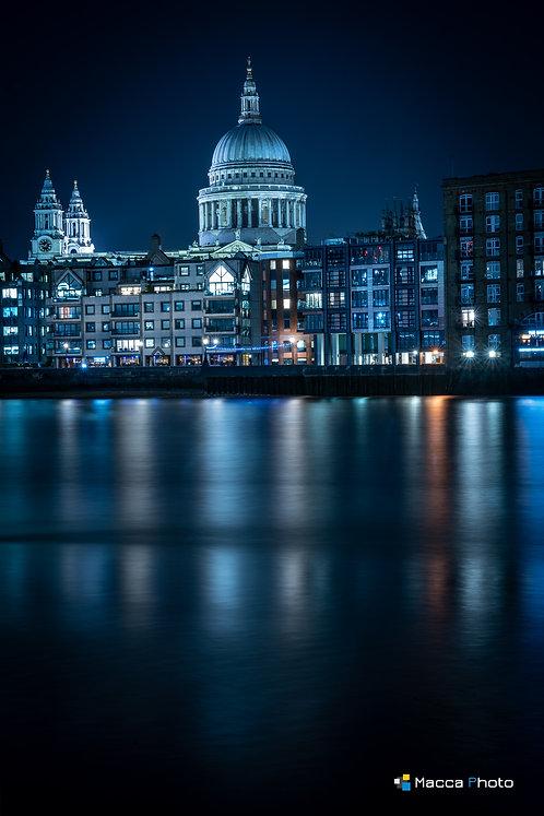 London - St Pauls - Blue Reflection