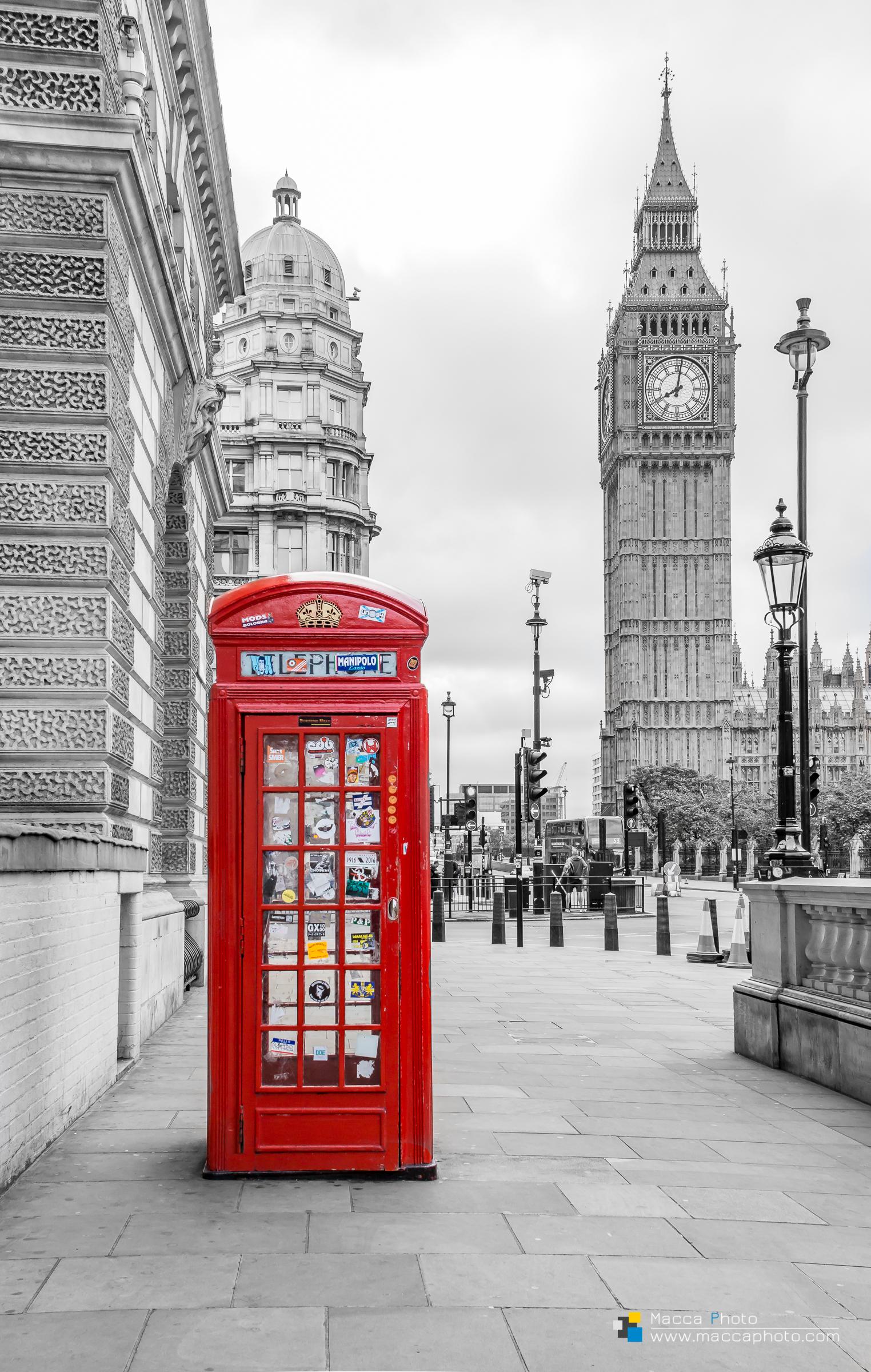 London - Telephone & Big Ben