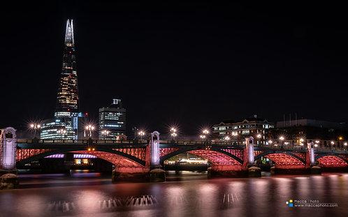 London - Southwark Bridge - The Shard