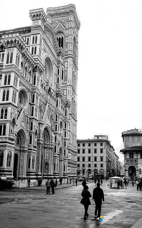 Italy - Cattedrale di Santa Maria del Fiore - B&W - 02
