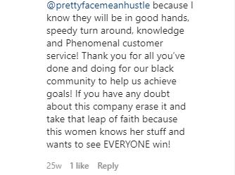 Testimonial Pretty Face Mean Hustle 3.2.