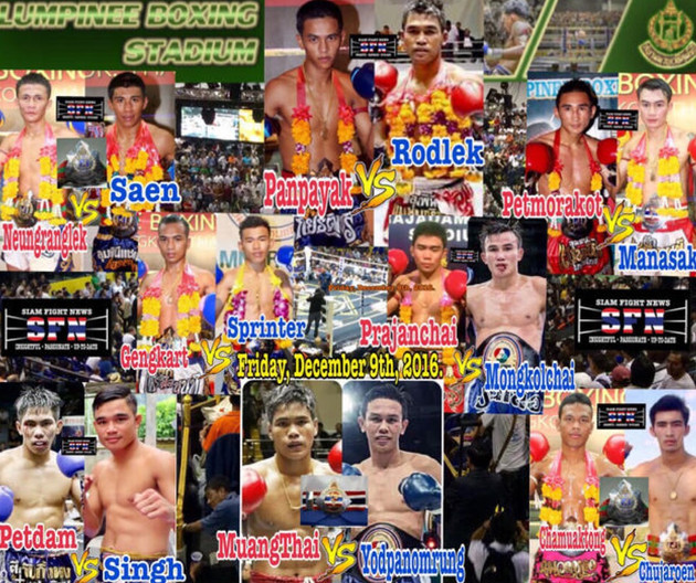 The MuayThai all-stars get together takes place at Lumpinee Stadium with two Thailand and two Lumpin