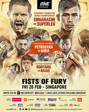 ONE CHAMPIONSHIP: FISTS OF FURY WILL FLY IN SINGAPORE