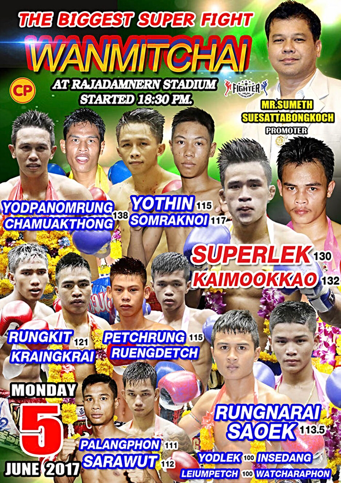 Muay talent: An array of stars are set to do battle at Rajadamnern stadium on June 5th