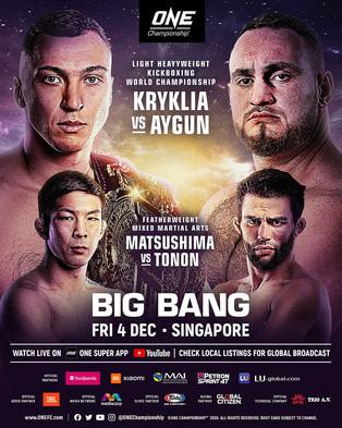 ONE CHAMPIONSHIP: Big Bang HEADS TO SINGAPORE
