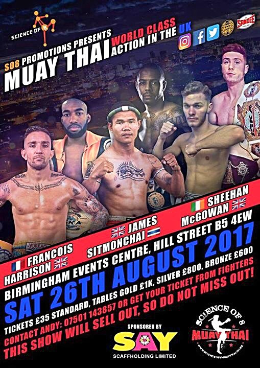 Birmingham: A multitude of Muay stars are coming your way