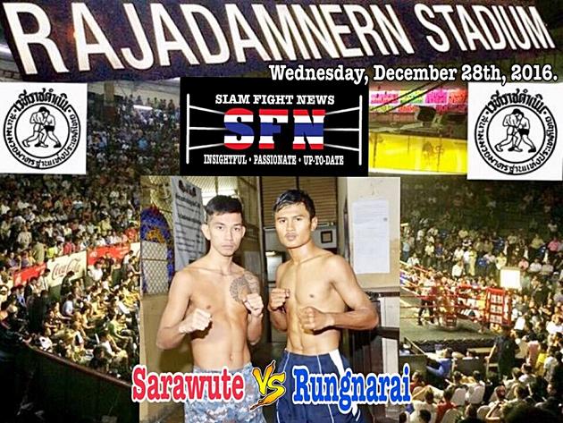 Muay stars collide: Sarawute versus RungnaraiheadlinestonightsChujaroen promotion at Rajadamnern